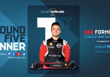 Формула E: Роулэнд выиграл виртуальную гонку в Берлине