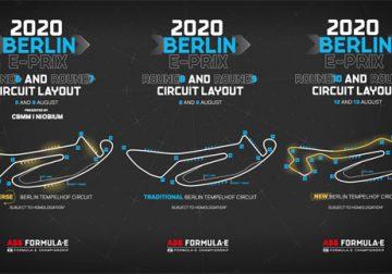 Формула Е: Конфигурации трасс для шести гонок в Берлине